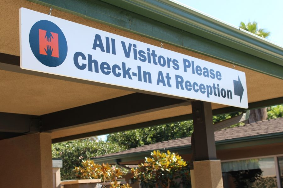 Operation Hope Vista sign for visitor check in.