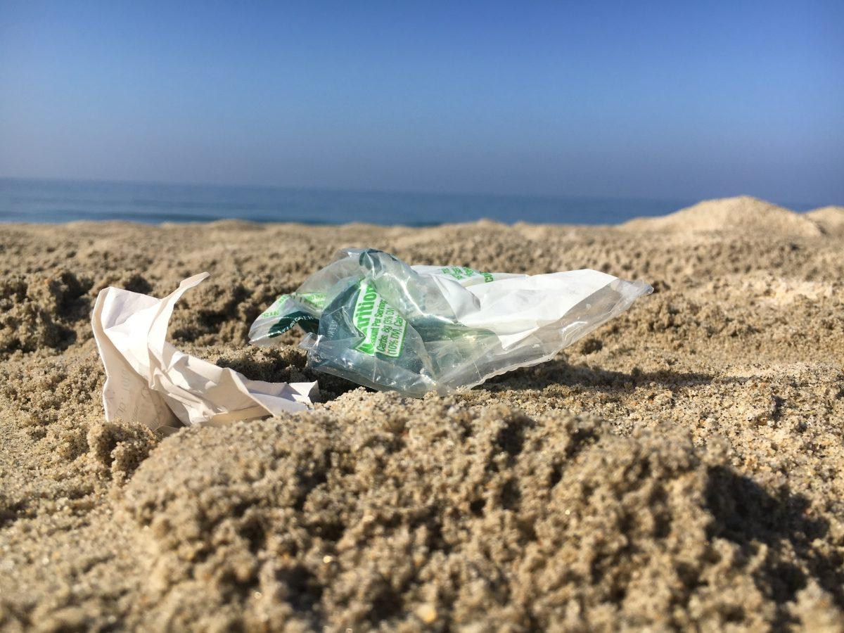 This lone bag was one of hundreds scavenged by Sage Creek students in pursuit of cleaning the beach