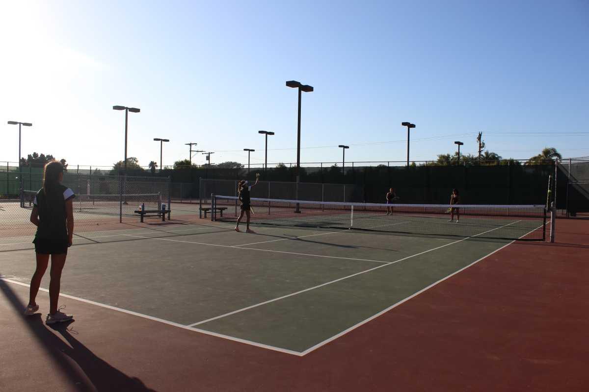 SCHS tennis team takes on CHS on their home court.