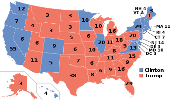 A map displaying the final commitments of the electors in the 2016 Presidential race. (Wikimedia Commons)