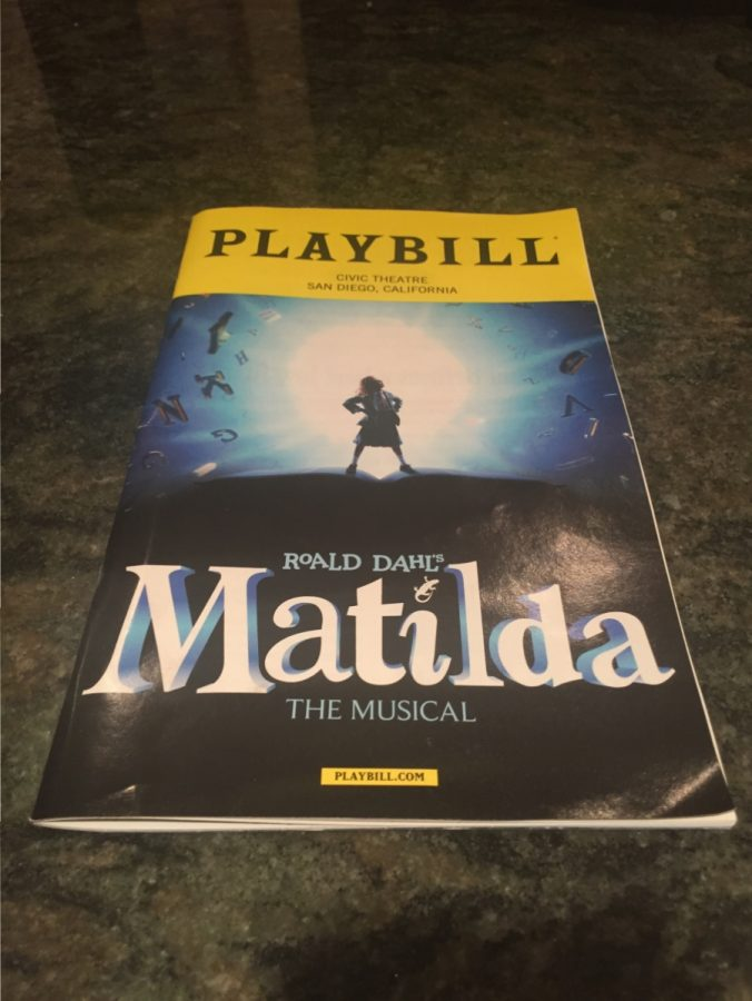 The playbill to the Broadway tour of Matilda is full of the lives of the amazing cast and crew who put on a wonderful performance.