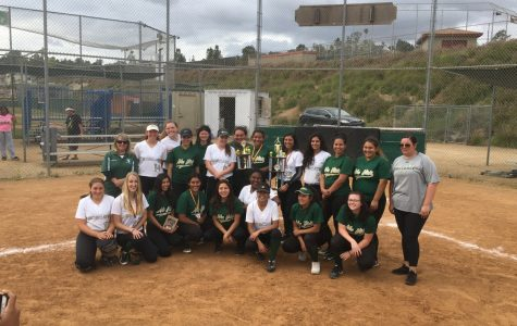 Sage Creek stands proudly with their first place trophy with second place winners Mar Vista