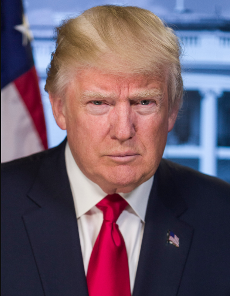 Donald Trump's official presidential portrait, courtesy of Wikimedia Commons