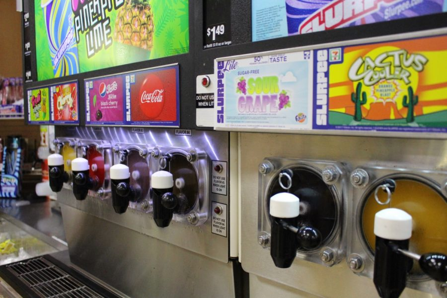 7/11's Slurpee Machine; the promised land for free-range high schoolers in the Californian desert.