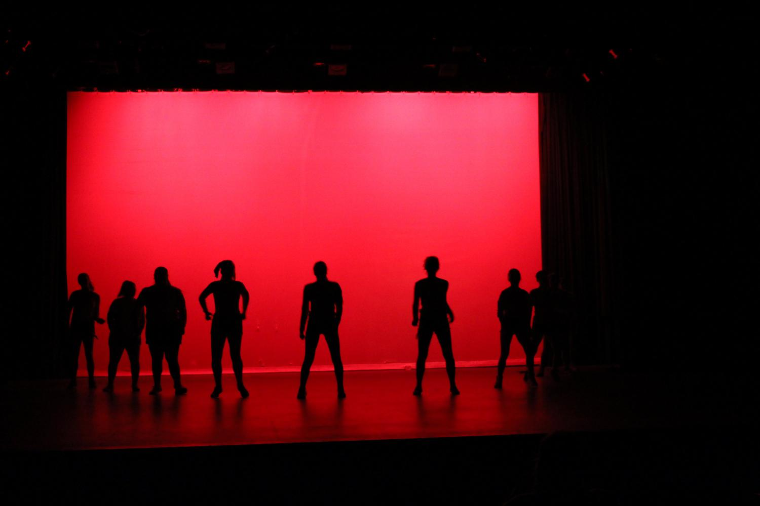 Sage Creek´s Dance Company prepares for one of their first performances.