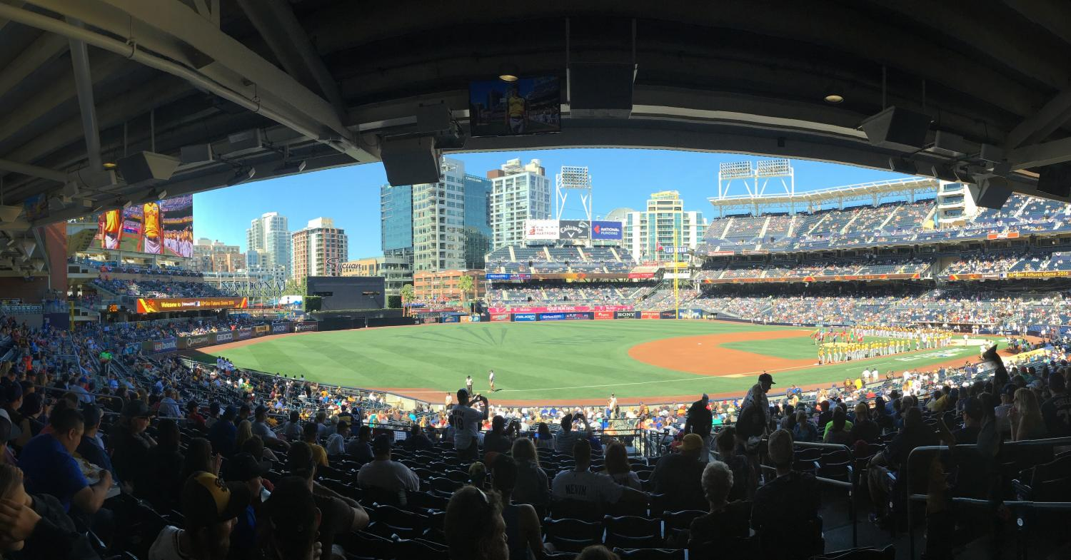 Petco Park filling up during the MLB All-Star Game in 2016