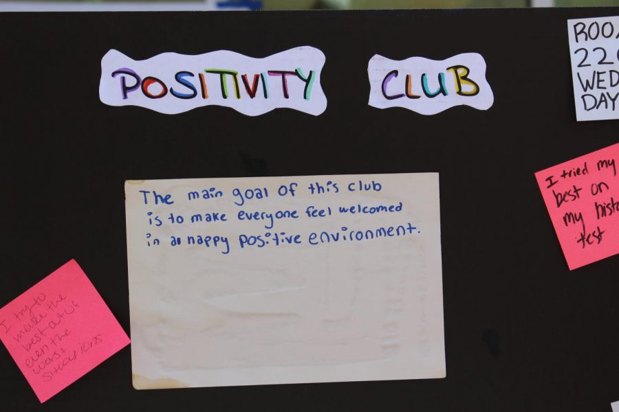 One of the many clubs advertised at last years club rush was Positivity Club. At club rush, there are a wide variety of clubs students are able to join.
