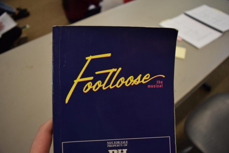 A copy of the script for Sage Creek's upcoming performance of the musical Footloose.