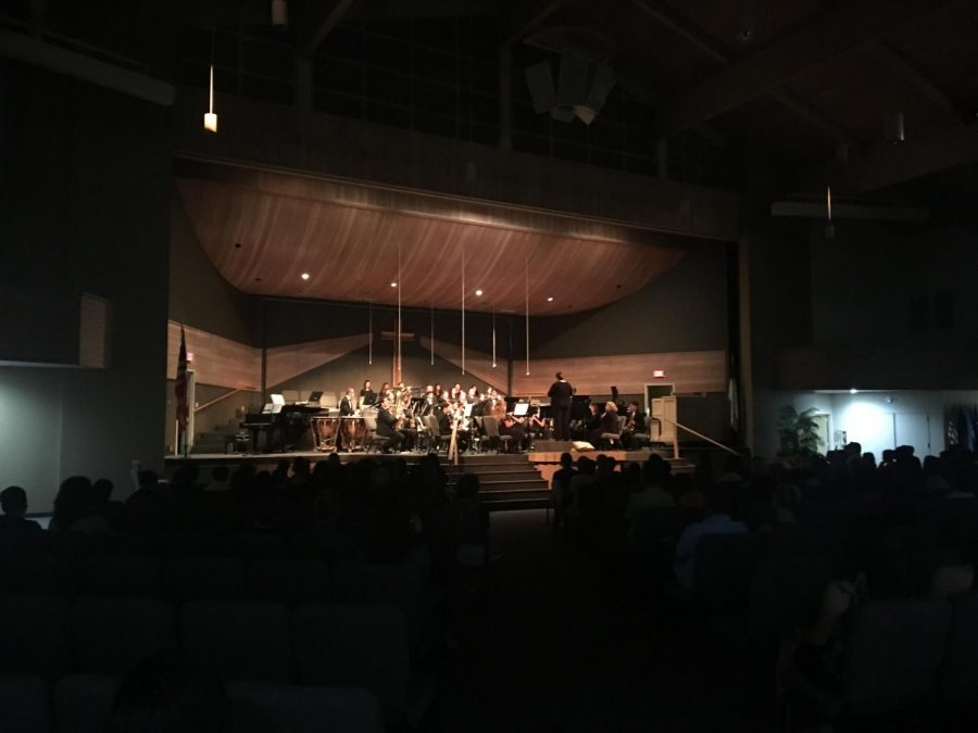 SCHS orchestra performing ¨Double Trouble.¨