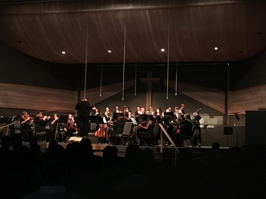 SCHS orchestra performing ¨The Labyrinth and the Mad King.¨