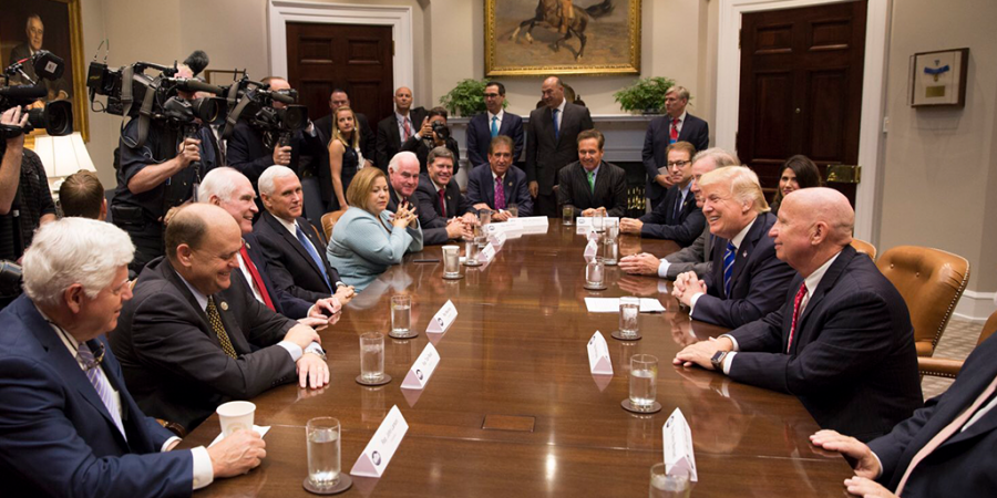 Trump discusses his new tax plan with leaders in Washington D.C.