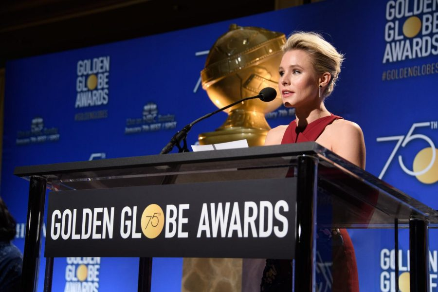 Actress Kristen Bell Announces All The Nominees For The 2018 Golden Globes