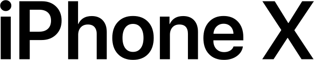 The IPhone X home screen display
