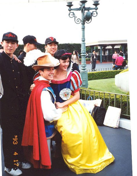 Burroughs%2C+dressed+as+Snow+White%2C+sits+with+her+prince+taking+pictures+with+guests+at+Disneyland.+Burroughs+spent+a+year+working+as+various+Disney+princesses+at+Disneyland+in+Japan.