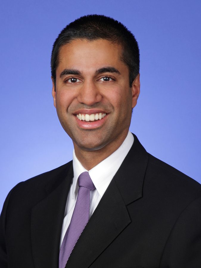 FCC Chairman Ajit Pai, the man who spearheaded the action to repeal the Net Neutrality regulations. Courtesy of FCC.gov