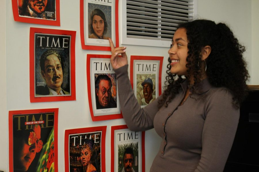 In honor of black history month, Ms. Williams hung up black historical figures in her classroom to bring awareness.