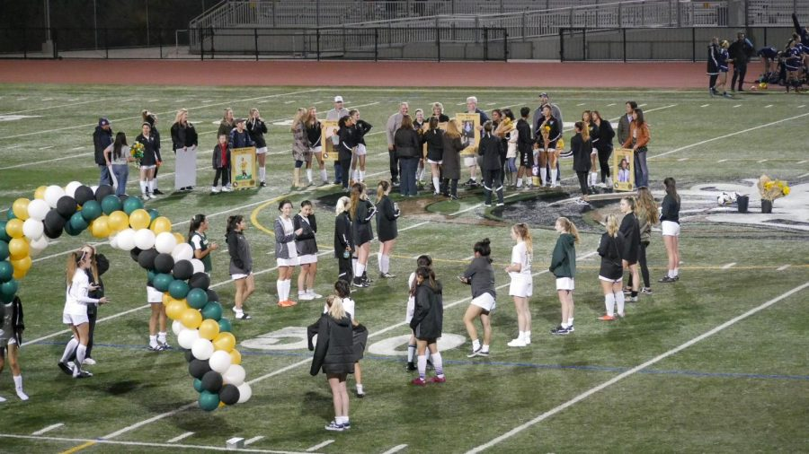 Wednesday was senior night, which said goodbye to the senior varsity players for the year.