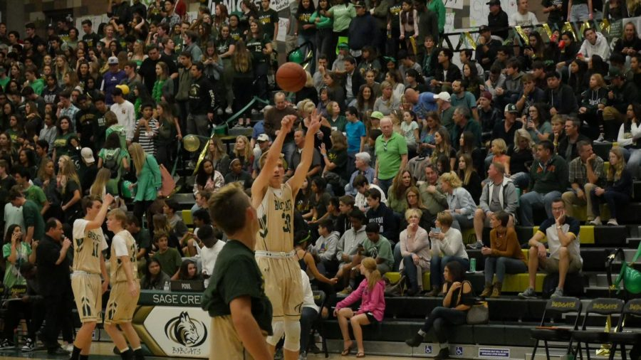 Sonck lays down a three pointer for the Bobcats.