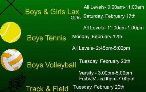 Spring Sport Tryout Dates