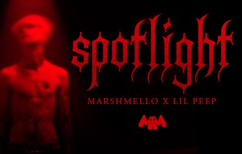 "Lil Peep x Marshmello ""Spotlight"" track cover. The duo started working on the song before Lil Peep's untimely death."