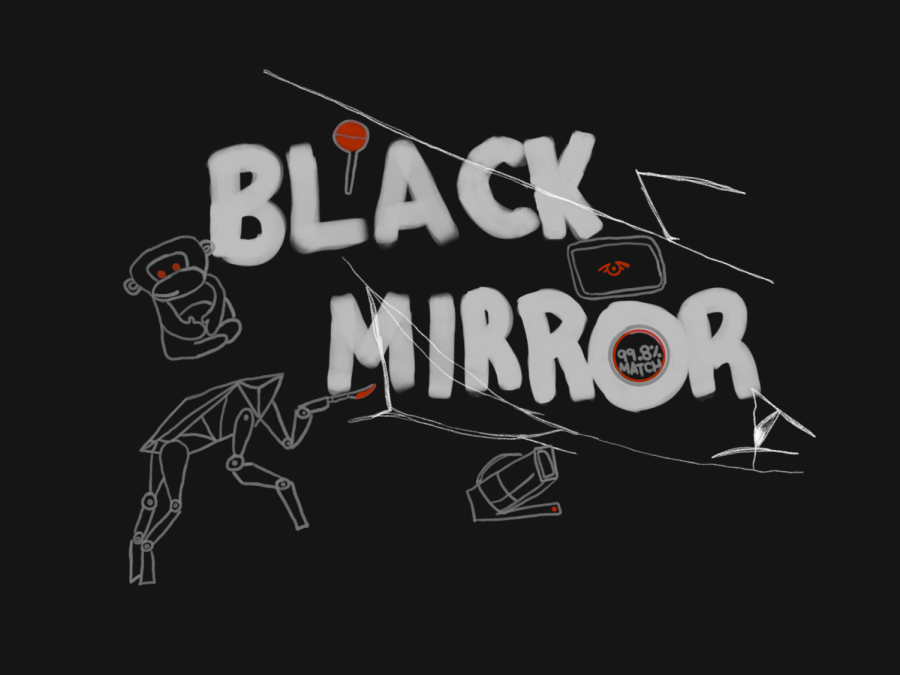 Black+Mirror+season+four+addresses+multiple+issues+including+fatalist+dating+apps%2C+transferring+consciousnesses%2C+and+privacy+of+the+mind.+The+episodes+give+insight+to+the+faulty+dystopian+worlds+while+mirroring+our+faulty+world.