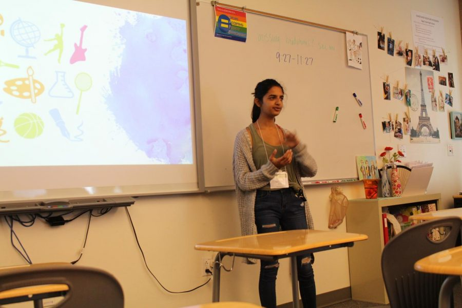 Junior Ananya Thyagarajan graces the rest of the students with her Genius Project titles