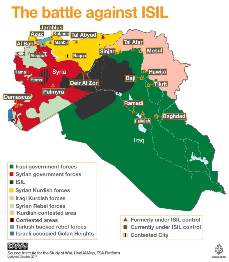 These+are+the+current+factions+fighting+for+control+and+which+part+of+the+land+they+own.+ISIL+has+been+pushed+back+to+a+fraction+of+their+previous+size.