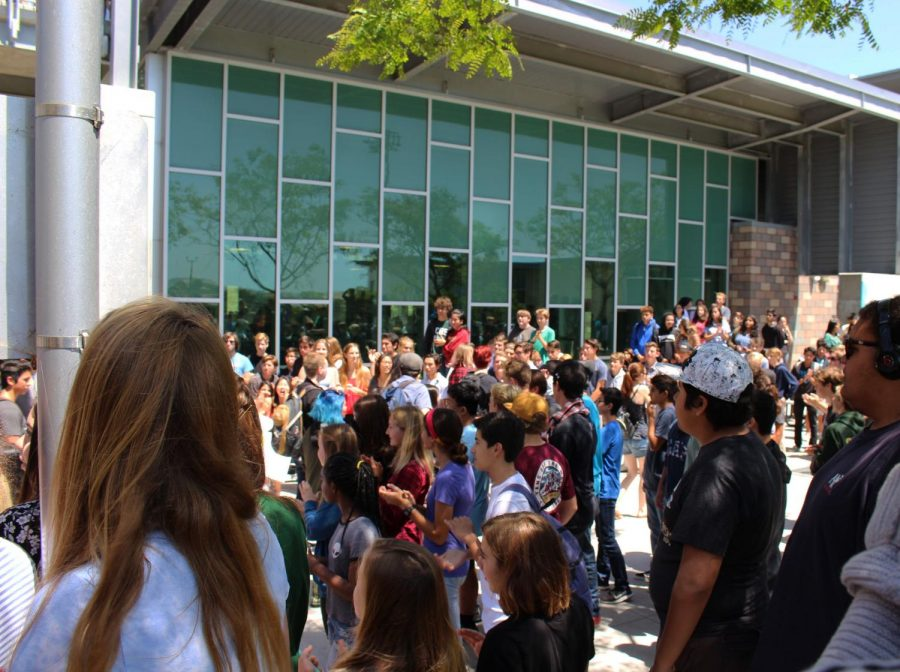 Every senior advisory class took their some of their last steps on the Sage Creek campus whilst departing during the annual senior walk off event. This event is in order to celebrate all of the individuals who are now graduating and moving on their next chapter in life.