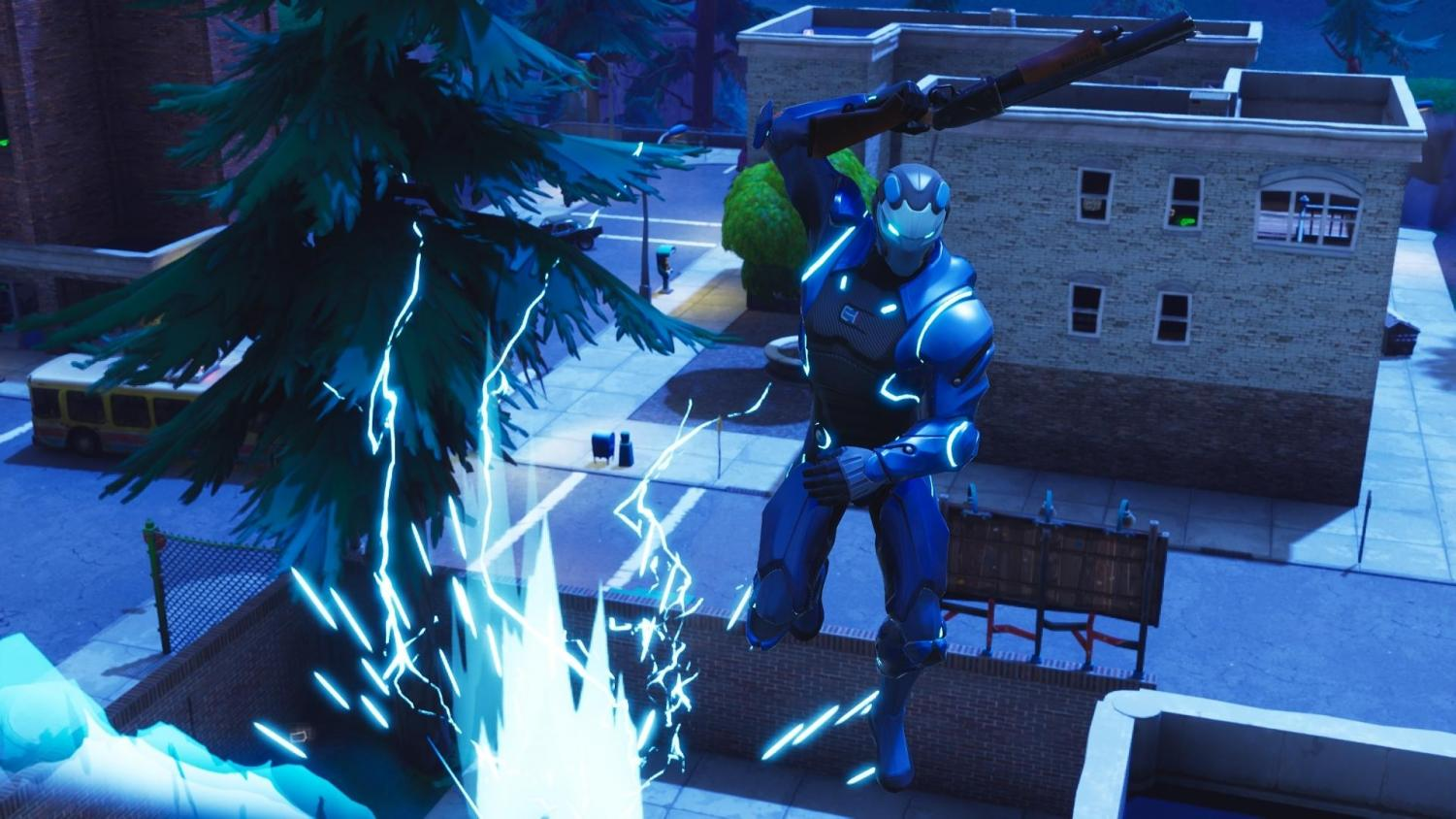 A brave user launches into battle with an overpowered pump shotgun and a fully upgraded BattlePass skin. Every few months Fortnite updates their game with a new season, adding in skins, dances, and updates to the map.