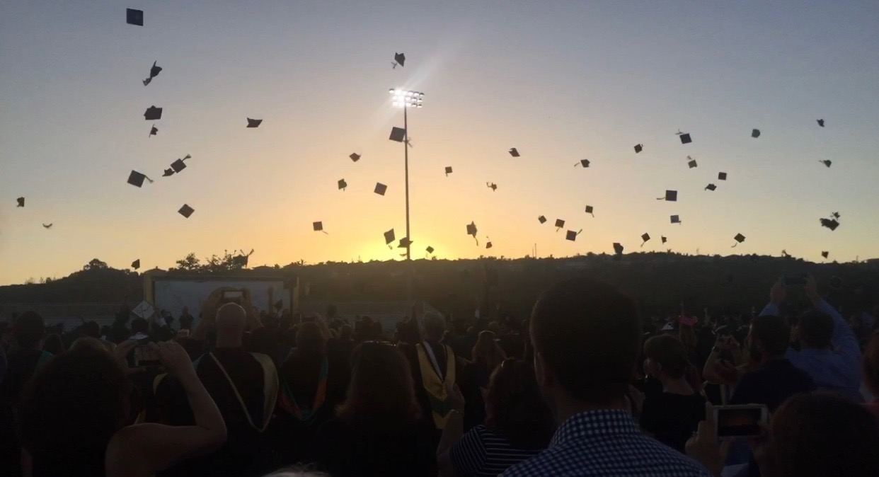 The graduating Senior Class of 2017, throw their caps as they wave goodbye to Sage Creek High School. This year, a new set of students, Graduating Class of 2018, will be throwing up their caps and turning their tassels as they prepare for adulthood.