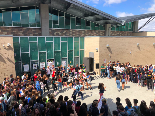 The impromteu Friday dance parties continue! As ASB plays music every Friday during lunch, this is the second week in which Sage Creek students have rallied together creating a dance circle throughout the duration of the lunch period.