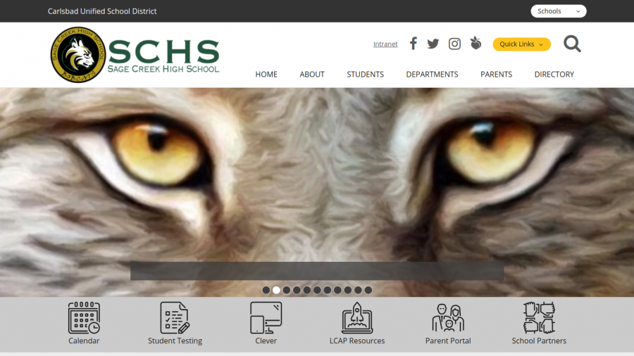 The new School Loop homepage has a very fresh, new look. The website's design was updated early this year, surprising many students and staff.