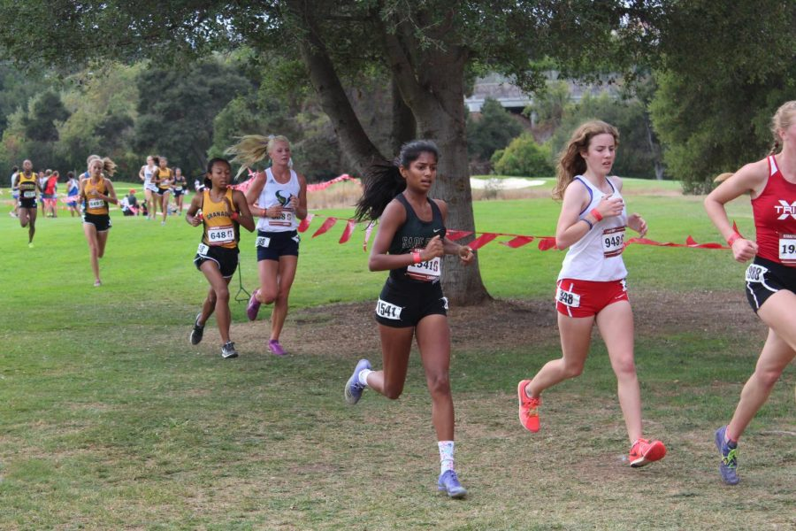 Lavanya Pandey races at the Stanford Invite on Sept. 29. Most of cross country finished the season on Oct. 26.