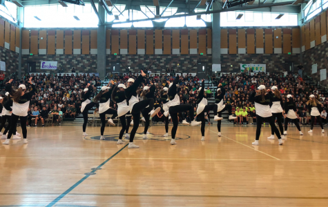 The Dance Team rocks the Sage Creek students during their first Pep Rally Performance. This performance showcased how these dancers are determined and know how to bust a move.