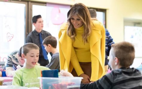 First Lady Melania Trump meets with young children at the Cincinnati Children's Hospital on Monday, Feb. 5, 2018. Melania has focused her efforts as First Lady in working to discourage bullying on many different platforms, emphasizing its effects on mental and physical stability.