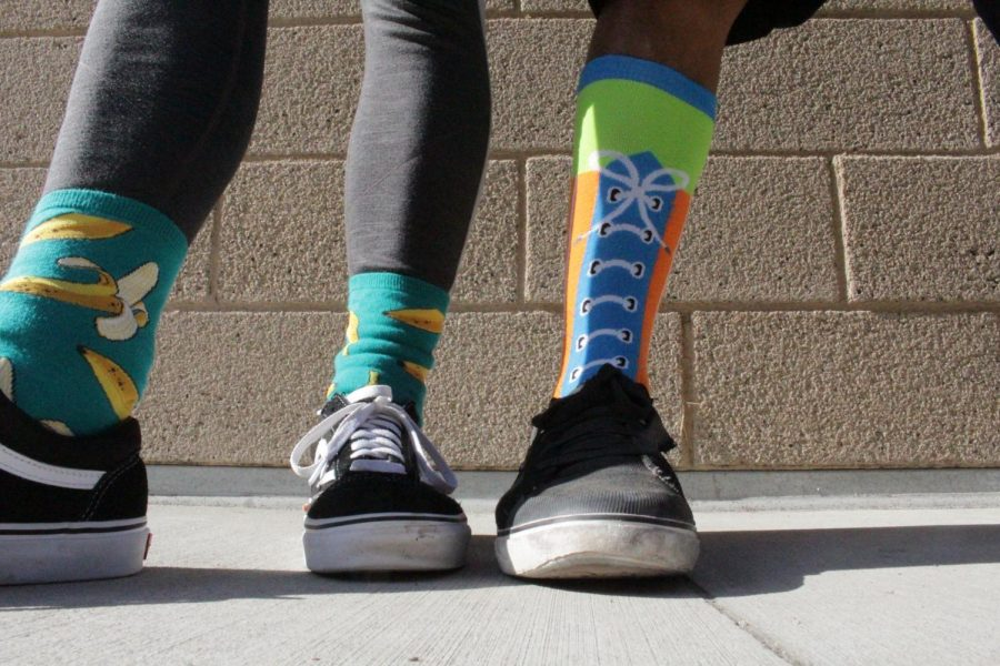 Both students and staff showed their spirit throughout the week. Crazy socks were seen everywhere on campus during this spirit day.