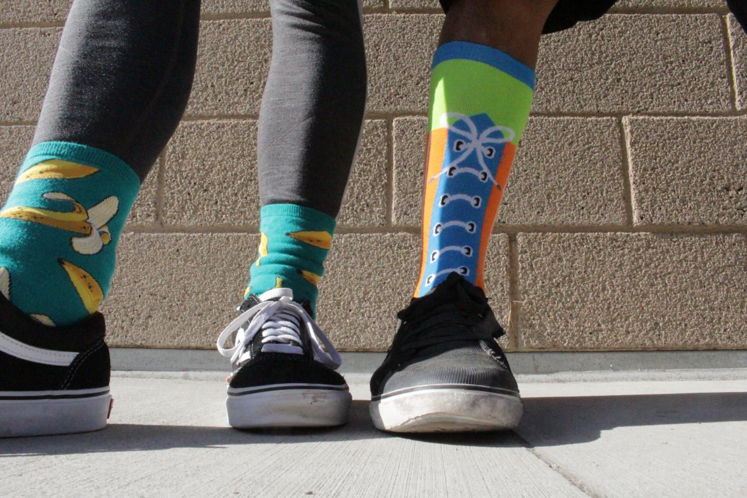 Both+students+and+staff+showed+their+spirit+throughout+the+week.+Crazy+socks+were+seen+everywhere+on+campus+during+this+spirit+day.