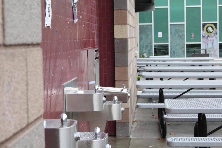 The water filling station is specifically designed for reusable water bottles. According to the hopes of several students and teachers, there will be two more water filling stations installed soon.