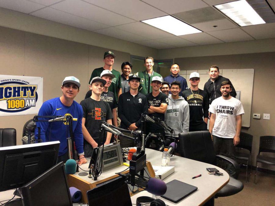 Varsity baseball took a trip to Mighty 1090 radio station to talk about their current season. Senior Garrett Taylor even took this chance to show off his singing voice.