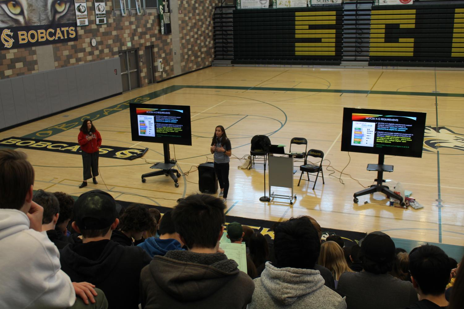 Counselors held an informational meeting for sophomores on Tuesday, Feb. 19. They discussed what can be expected next year as regards to APs and went over the 2019-2020 school year course request. entry form.