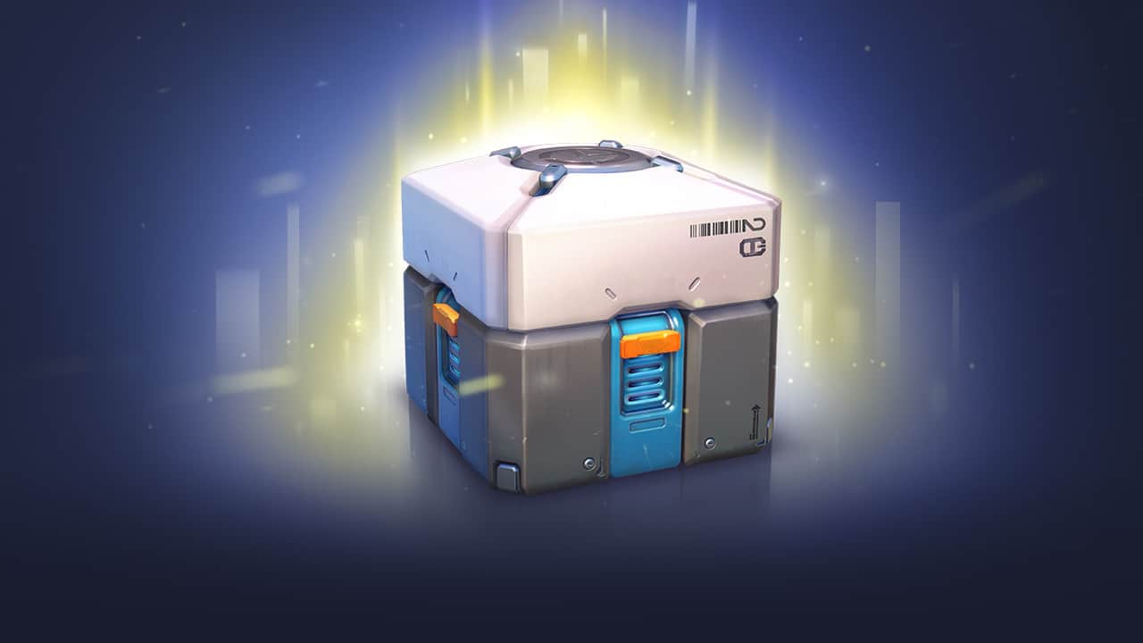 "Screenshot of a loot box from the critically acclaimed ""Overwatch"" by Blizzard Entertainment. Loot boxes in ""Overwatch"" thankfully only contain cosmetic items."