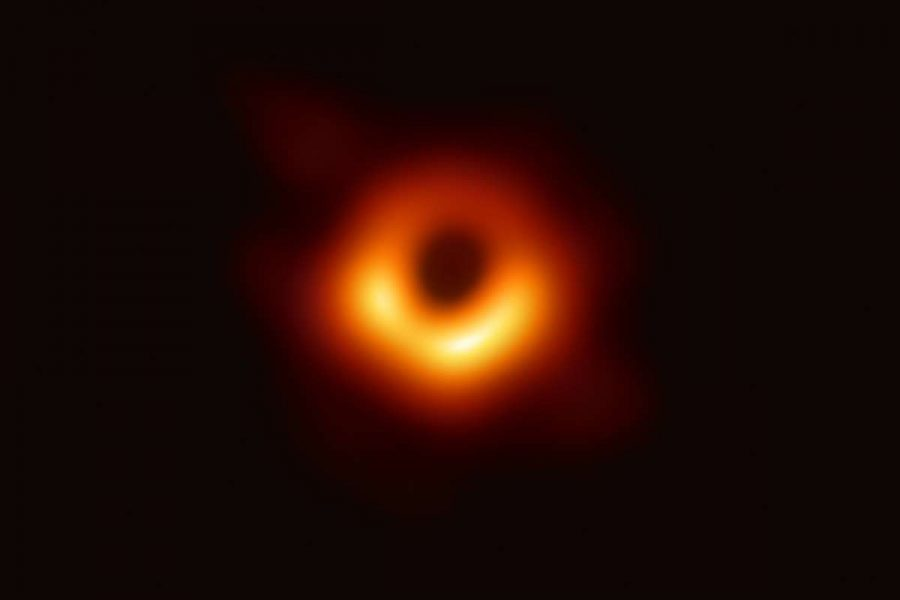 This is the first real image of a black hole. Although it may not look like much, this image took eight telescopes, four continents and over two years to create.