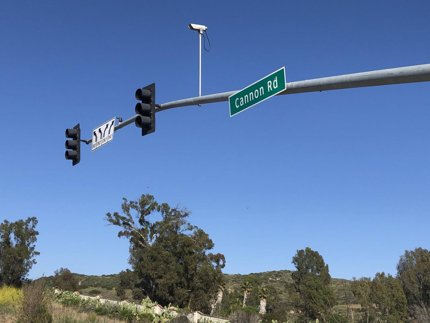 The corner of College and Cannon is passed through by many students and commuters every day. The sign and street name of Cannon Road has been a staple in the Carlsbad transit system for several years.