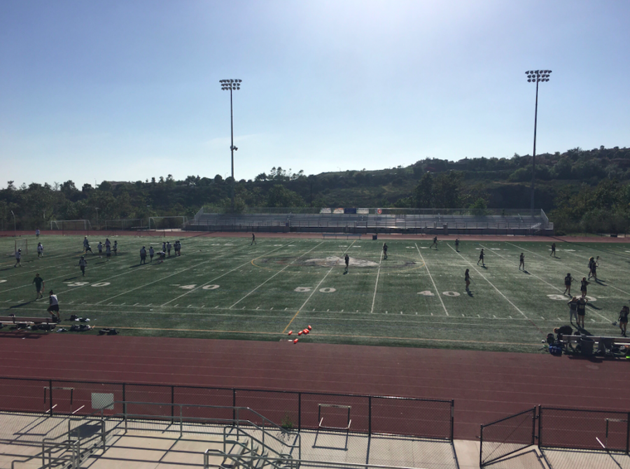 Sage Creek's boys and girls lacrosse teams gear up to play each other in the Boys VS. Girls Lacrosse game that took place on May 3. The lady Bobcats won the match with a score of 9-5.