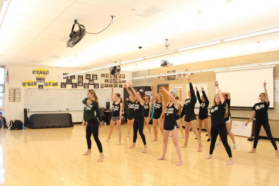 The dancers rehearse a intricate and complex routine. Many of their dances take hours to learn and multiple practices to perfect.