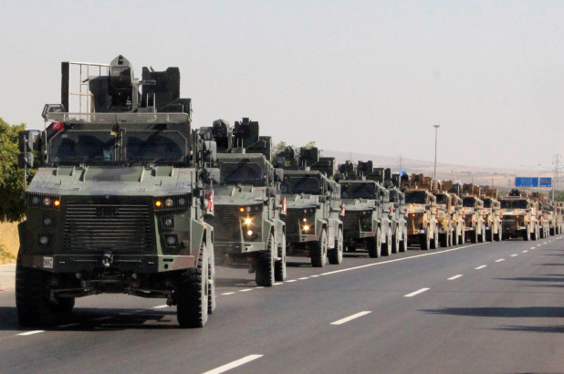 Turkish Army Trucks begin to invade. The troops have been deployed in masses and the fight continues to thicken.