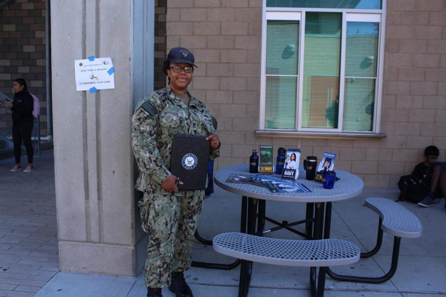 A representative from the Navy stopped by during lunch on Thursday, Oct. 3. Students were able to go to the Bobcat Arena and learn more about what the Navy has to offer.
