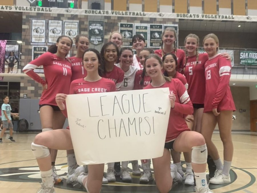 After a 3-1 win against SDA, Girls Volleyball secures their place in winning the League Championship, bringing in another banner in the Bobcat Arena.