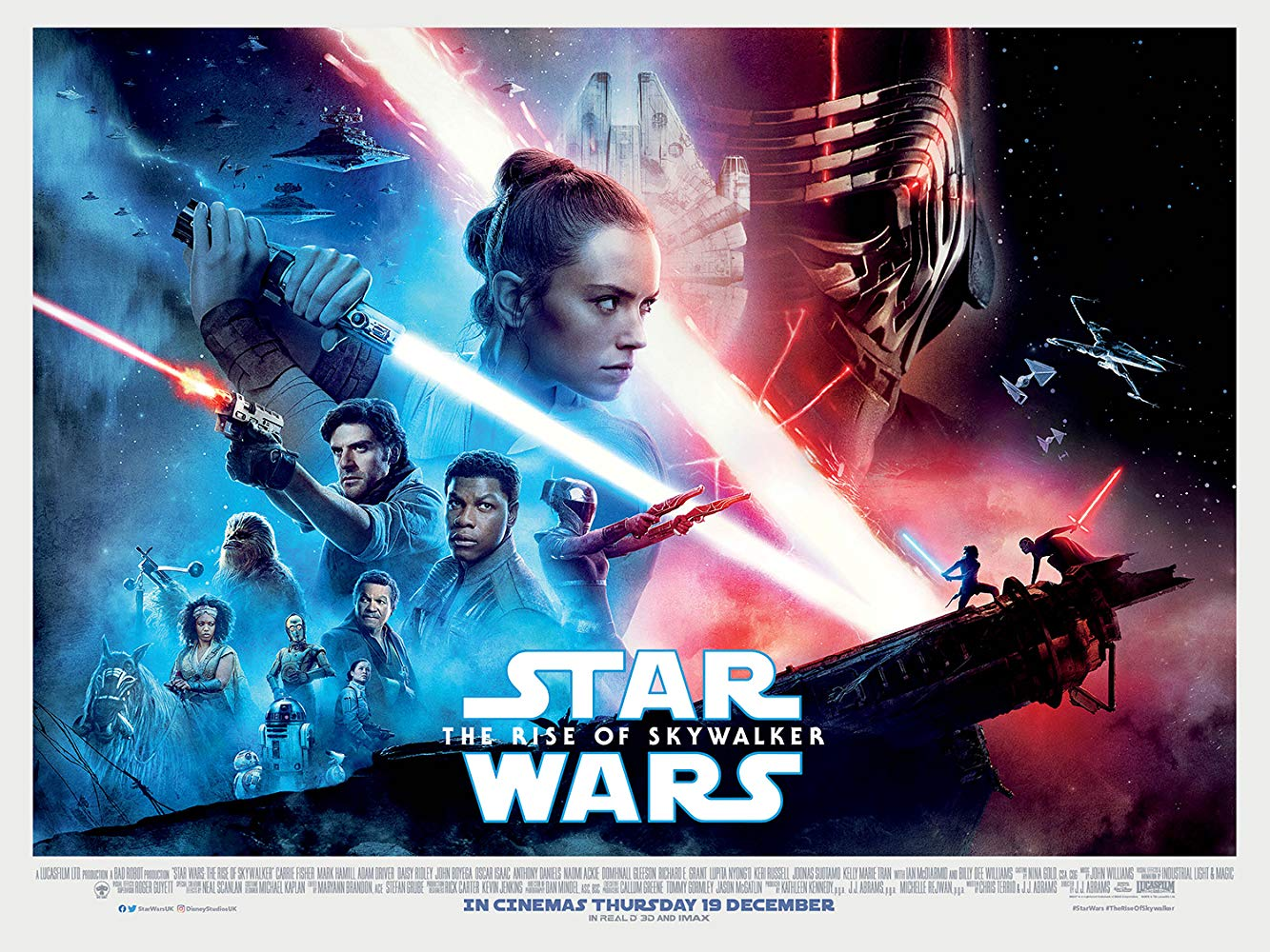 """The Rise of Skywalker"" is the ninth installment in the series, which spans 42 years. J.J. Abrams, in addition to ""The Force Awakens,"" helmed the director chair and is credited in the screenplay."