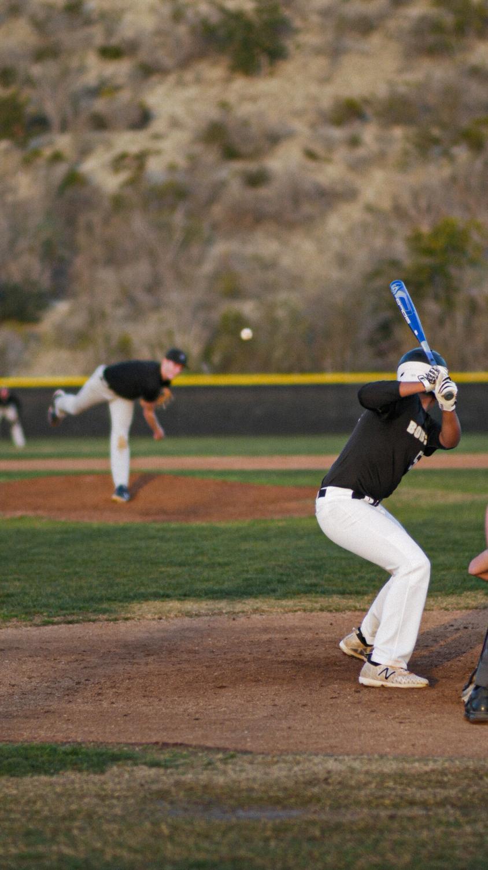 Player+Ethan+Santana+is+up+to+bat%21+Sage+Creek+baseball+plays+Carlsbad+High+in+a+pre-season+matchup.